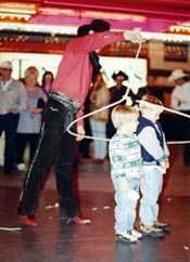 Roping the kids in!